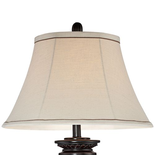 Kathy Ireland Sonnett Bronze Font Table Lamp