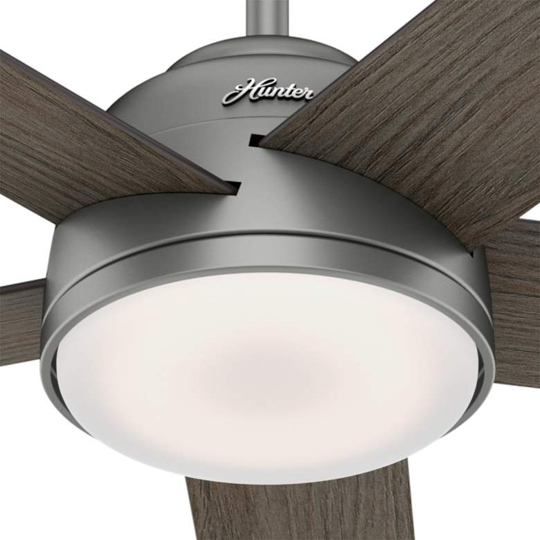 "54"" Hunter Romulus Matte Silver LED Ceiling Fan more views"