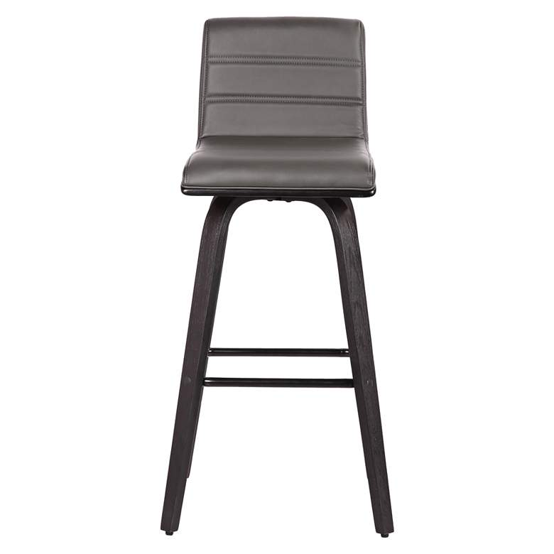"Vienna 25 1/4"" Gray Faux Leather Swivel Counter Stool more views"