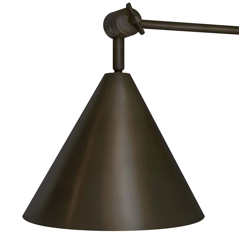 Regina Andrew Design Zig-Zag Oiled Bronze Pin-Up Wall Lamp more views