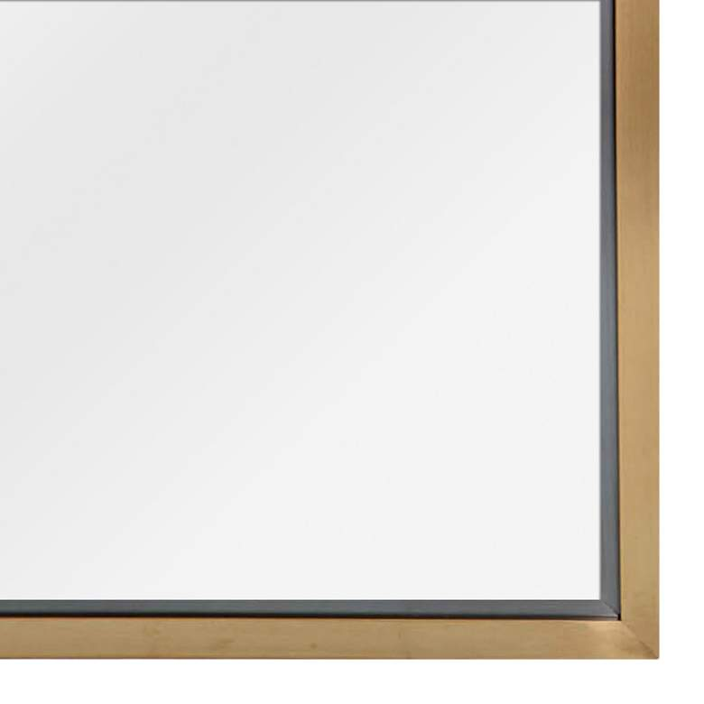 "Classics Natural Brass 24"" x 48"" Wall Mirror more views"