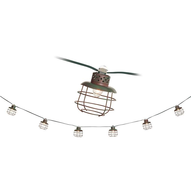 Metal Cage Lantern String Party Lights - 10 Light Strand more views