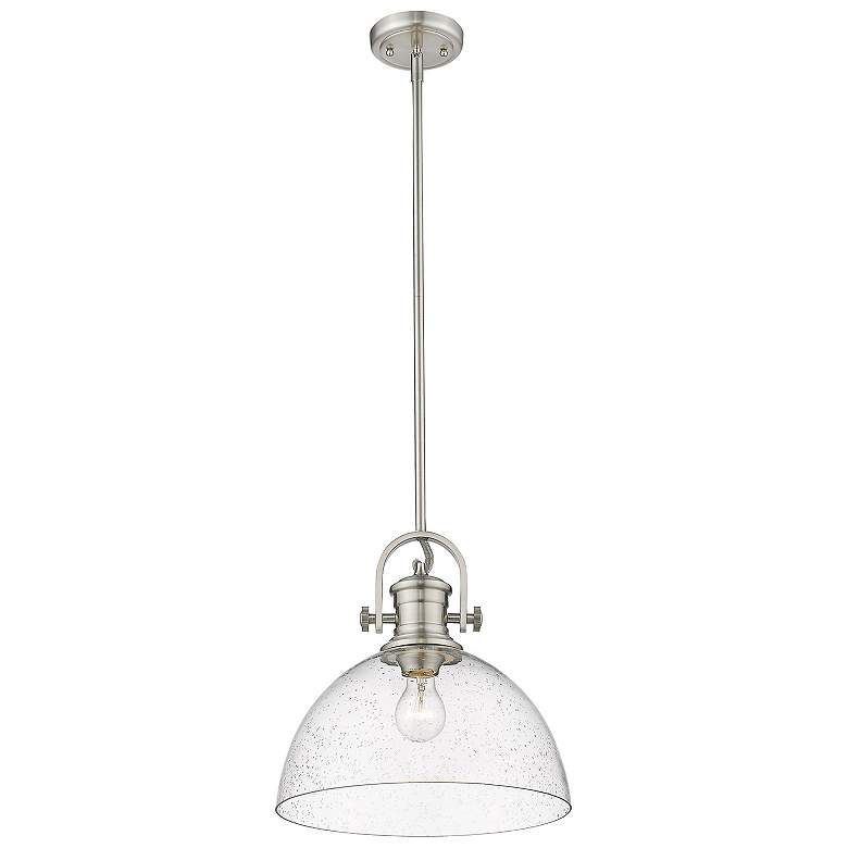 "Hines 13 1/2"" Wide Pewter Pendant Light more views"