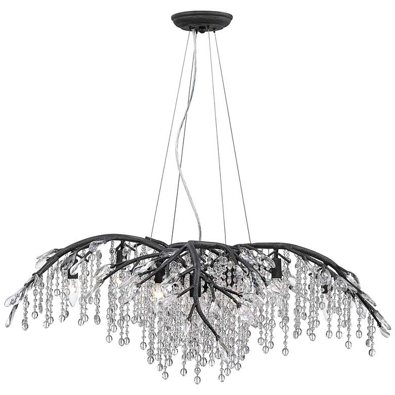 "Autumn Twilight 40"" Wide Black Iron and Crystal Chandelier more views"
