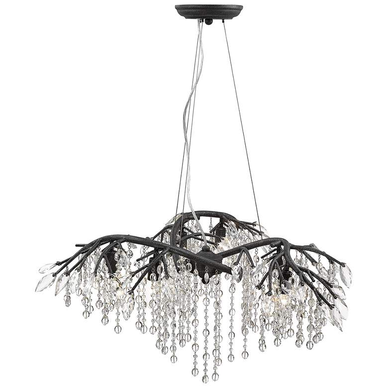 "Autumn Twilight 31"" Wide Black Iron and Crystal Chandelier more views"