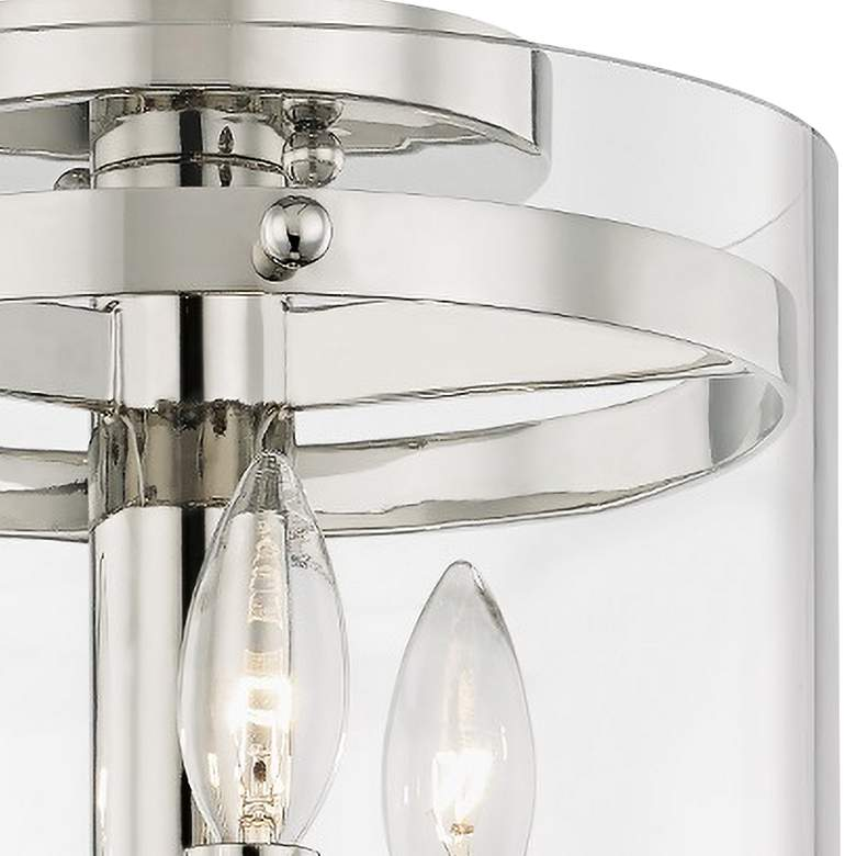 "Baxter 10"" Wide Polished Nickel 3-Light Ceiling Light more views"