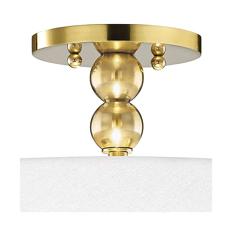 "Hudson Valley Flare 18"" Wide Aged Brass Ceiling Light more views"