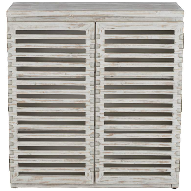"Hudson 26"" Wide Slat Door Accent Cabinet more views"