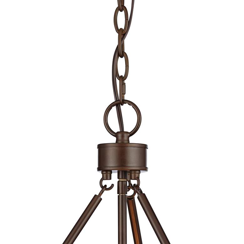 "Seagrass Print Lamont 20 1/2"" Wide Bronze Pendant Light more views"