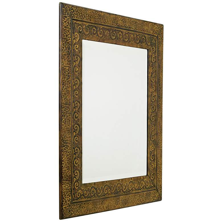 "Uttermost Jackson Rustic Bronzed 30"" x 34"" Wall Mirror more views"