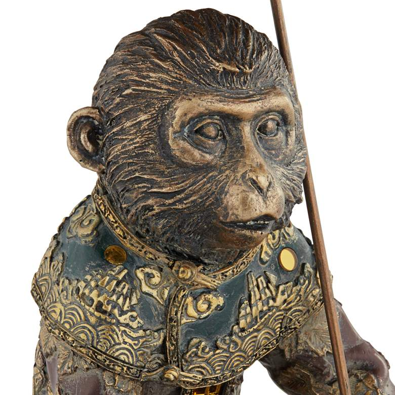 "Tropical Monkey 9 3/4"" High Bronze Sculpture more views"
