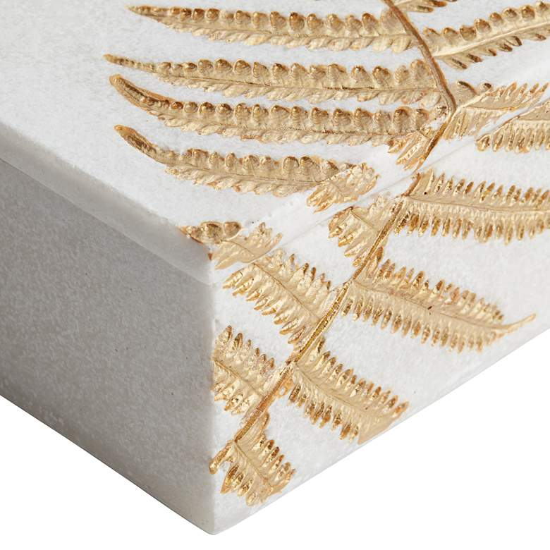 White and Gold Leaf Square Decorative Box more views