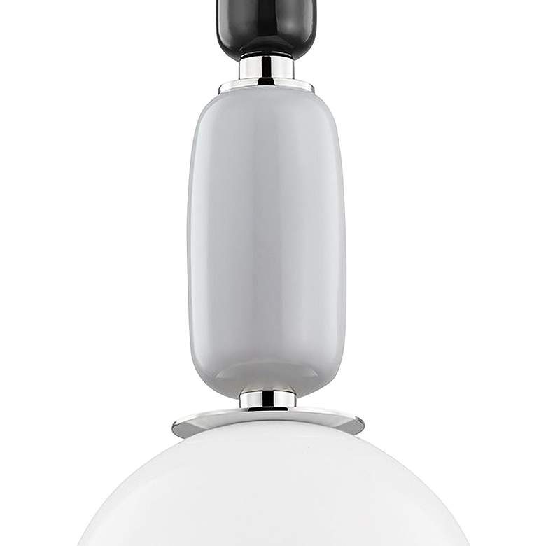 "Mitzi Camila 10 3/4"" Wide Polished Nickel Mini Pendant Light more views"