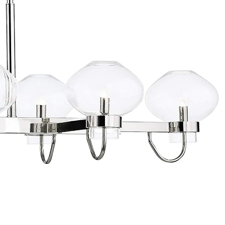 "Korey 57 1/2"" Wide Polished Nickel 8-Light Island Chandelier more views"