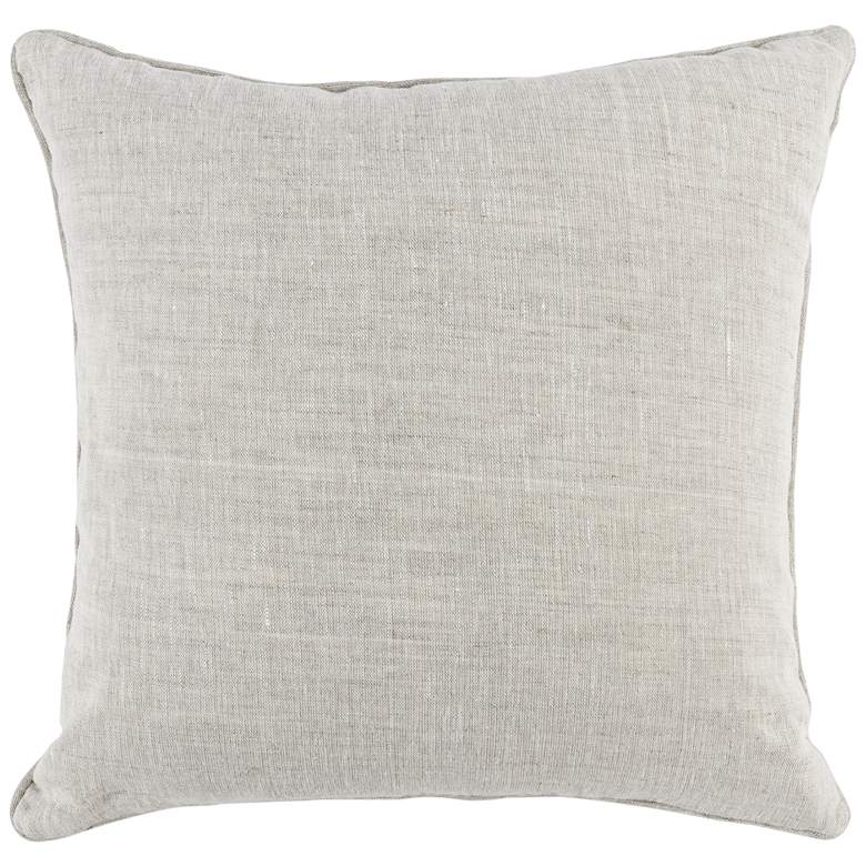 "Luxi Gray and Natural Trellis 22"" Square Decorative Pillow more views"