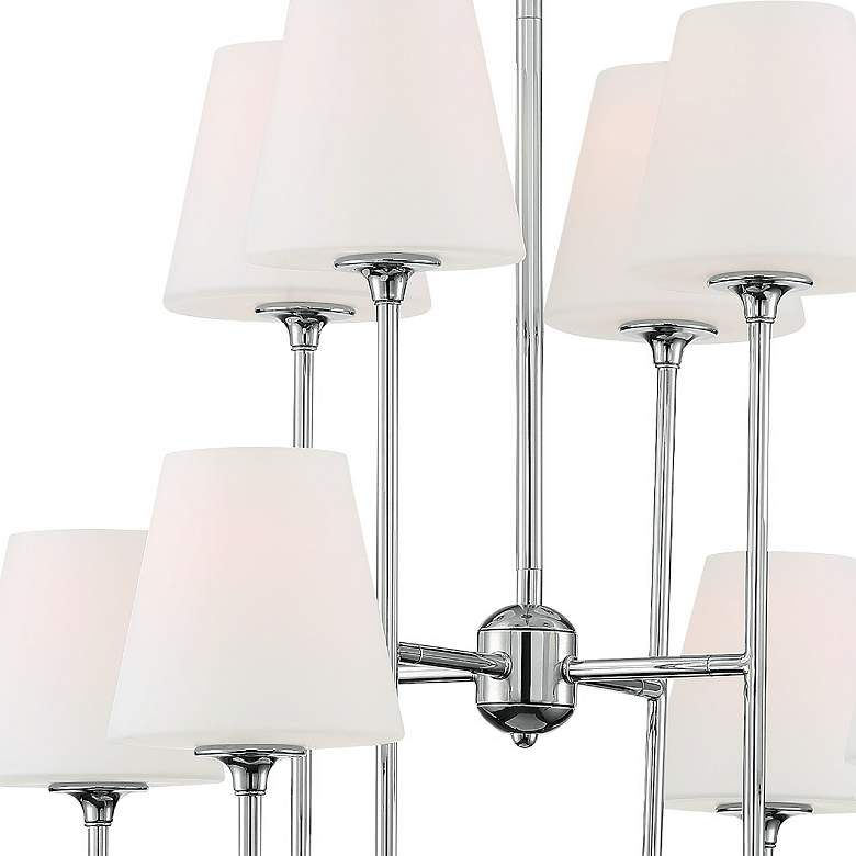 "Crystorama Keenan 28""W Polished Nickel 8-Light Chandelier more views"