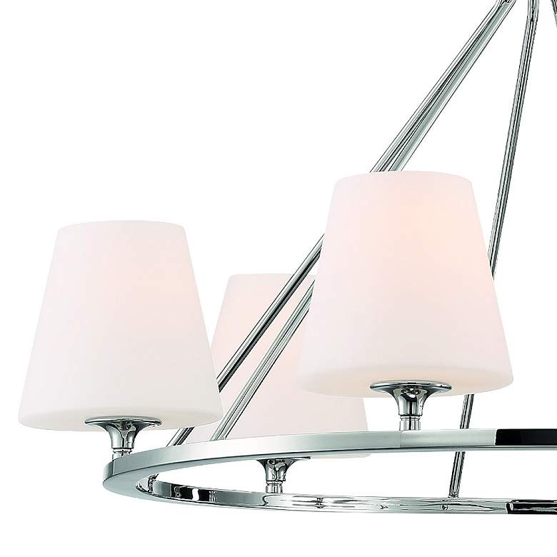 "Crystorama Keenan 31 1/4""W Nickel 6-Light Round Chandelier more views"