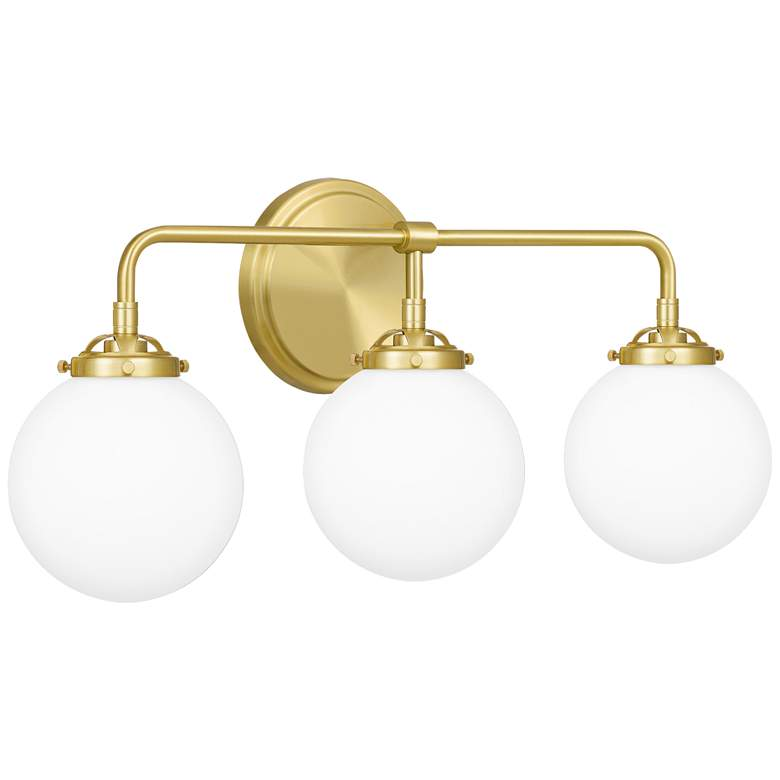 "Quoizel Landry 24"" Wide Satin Brass 3-Light Bath Light more views"