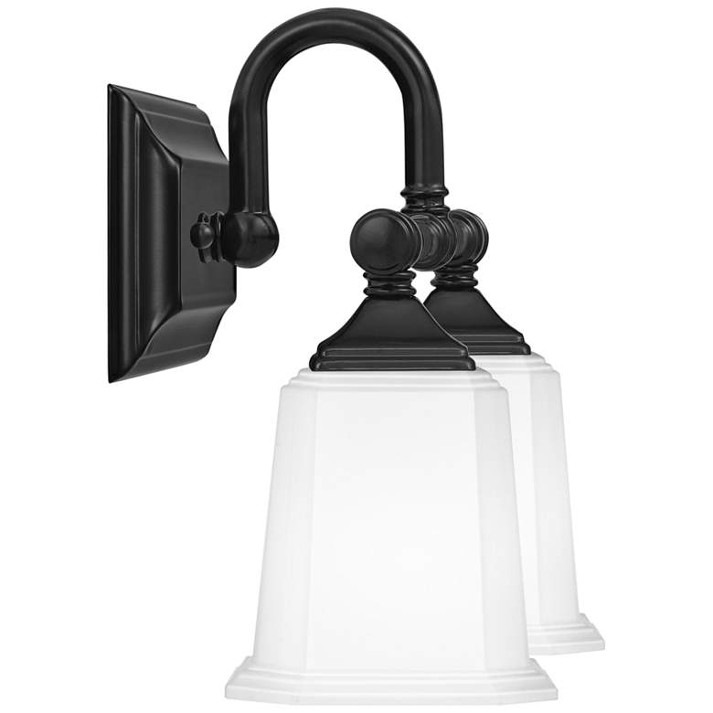 "Quoizel Nicholas 10"" High Earth Black 2-Light Wall Sconce more views"