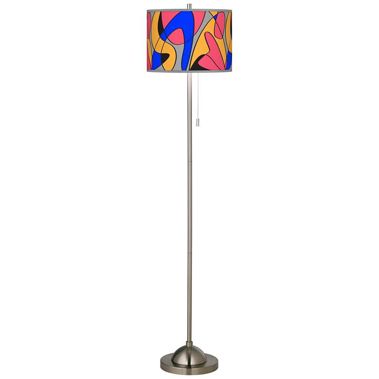 Pop Modern Brushed Nickel Pull Chain Floor Lamp more views