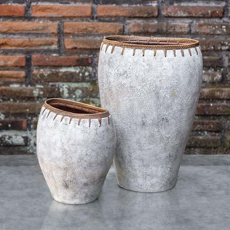 Uttermost Dua Natural Stone Decorative Vases Set of 2 more views