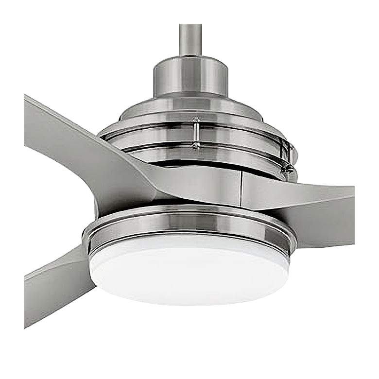 "72"" Hinkley Artiste Brushed Nickel LED Wet-Rated Ceiling Fan more views"