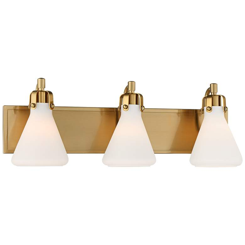 "Stiffel Cindy 24"" Wide Warm Brass 3-Light Bath Light more views"