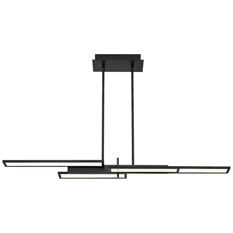 "Bayswater 46""W Matte Black 4-Light LED Island Pendant Light more views"