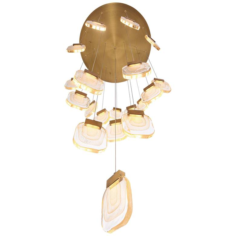 "Eurofase Paget 28 3/4"" Wide Gold LED Multi-Light Pendant more views"
