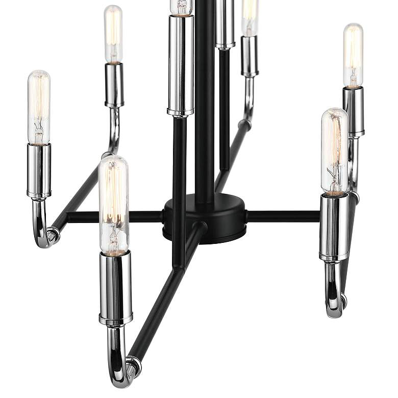 "Percy 35 3/4"" Wide Black Chrome 8-Light Island Chandelier more views"