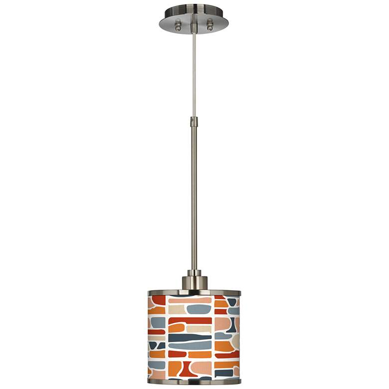 Retro Cobblestones Giclee Glow Mini Pendant Light more views
