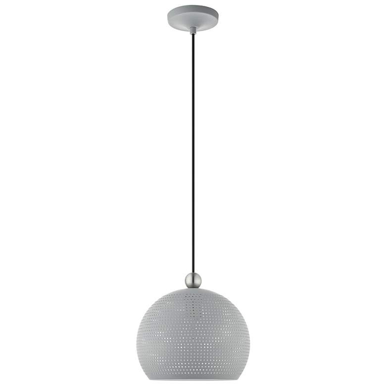 "Dublin 10"" Wide Nordic Gray Metal Globe Mini Pendant Light more views"