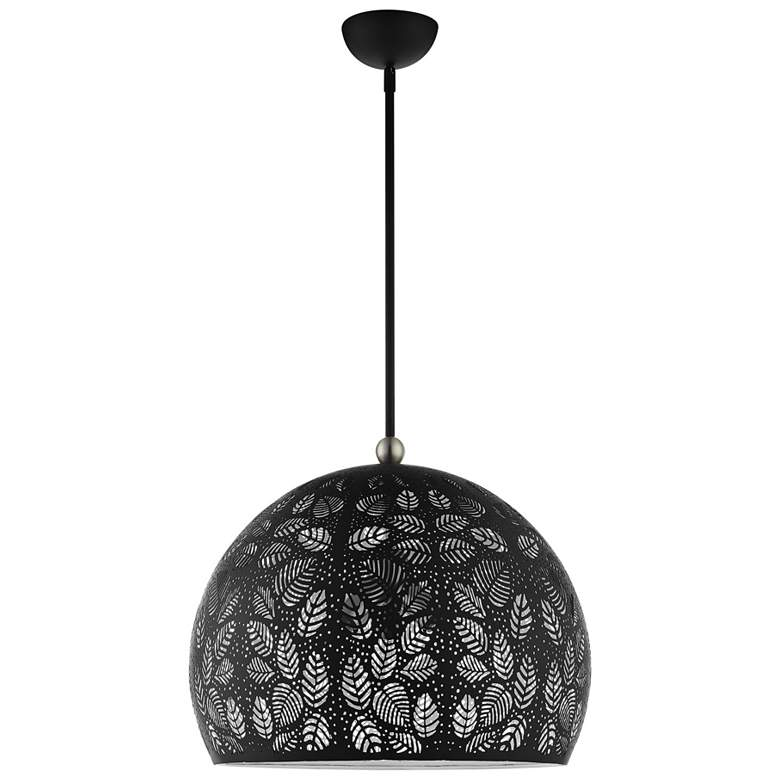 "Chantily 19 3/4"" Wide Black Metal Globe Pendant Light more views"