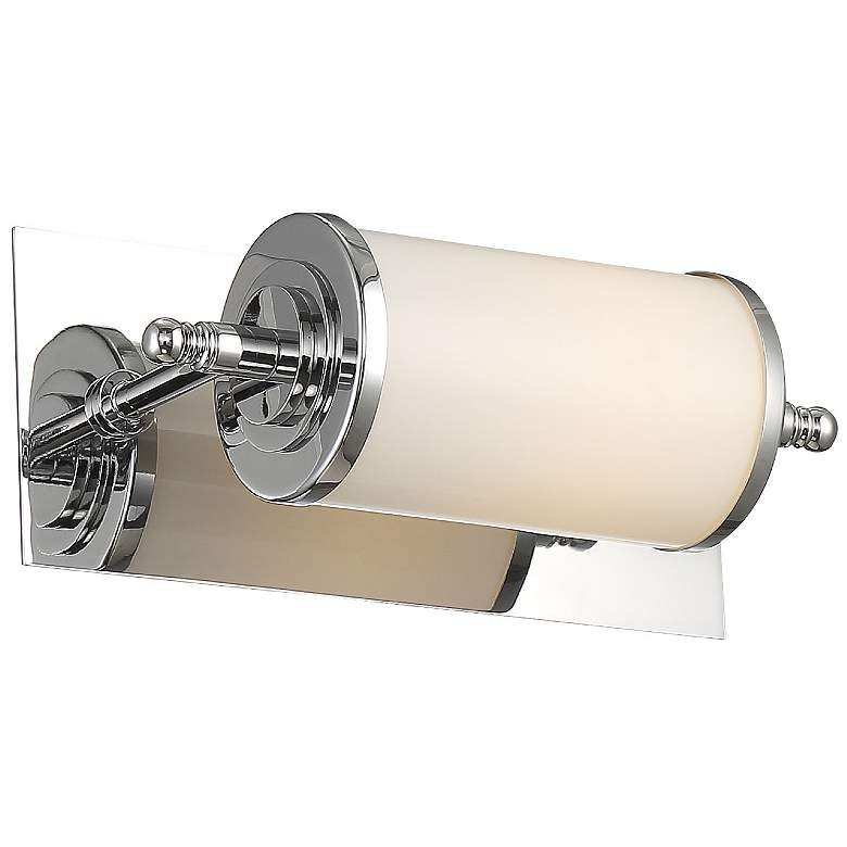 "Crystorama Foster 12"" Wide Chrome LED Wall Light more views"