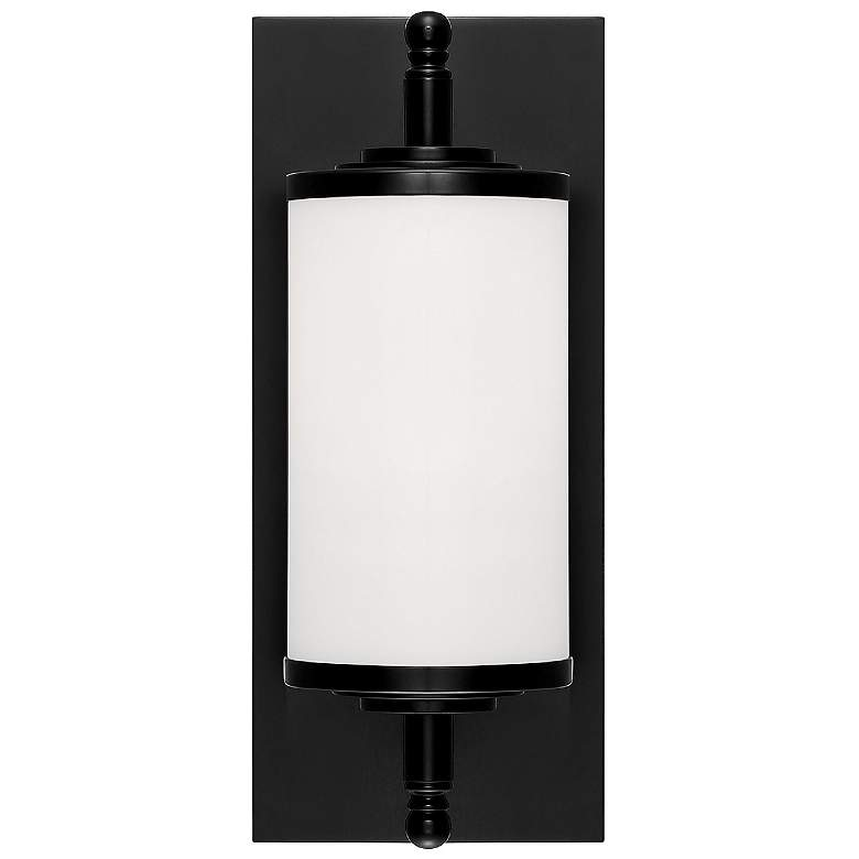 "Crystorama Foster 12"" Wide Matte Black LED Wall Light more views"