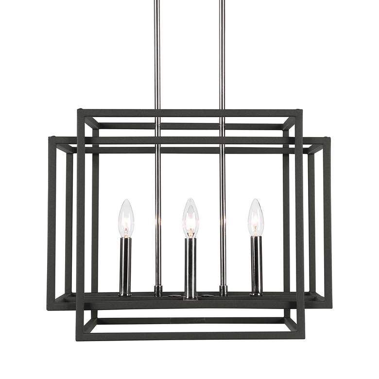 Uttermost Quadrangle Black 4-Light Pendant Light more views