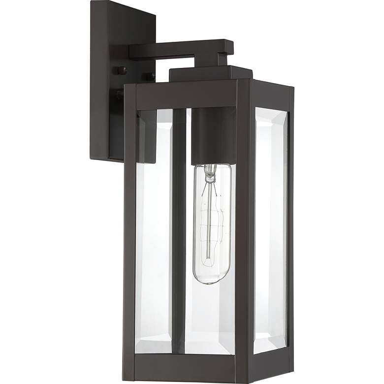 "Quoizel Westover 14 1/4"" High Bronze Outdoor Wall Light more views"