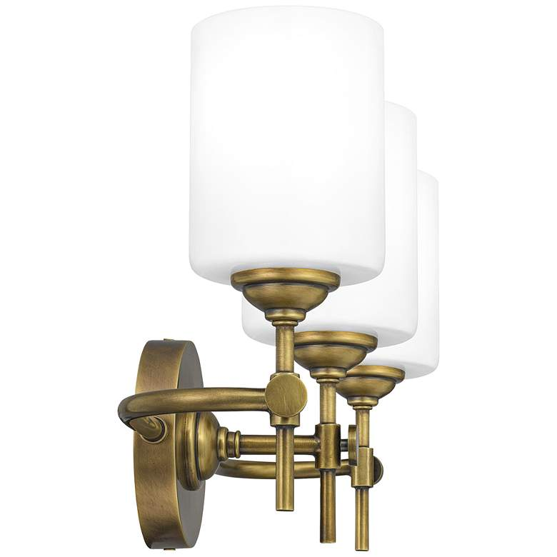 "Quoizel Aria 22 1/2"" Wide Weathered Brass 3-Light Bath Light more views"