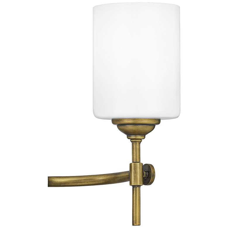 "Quoizel Aria 31 1/4"" Wide Weathered Brass 4-Light Bath Light more views"