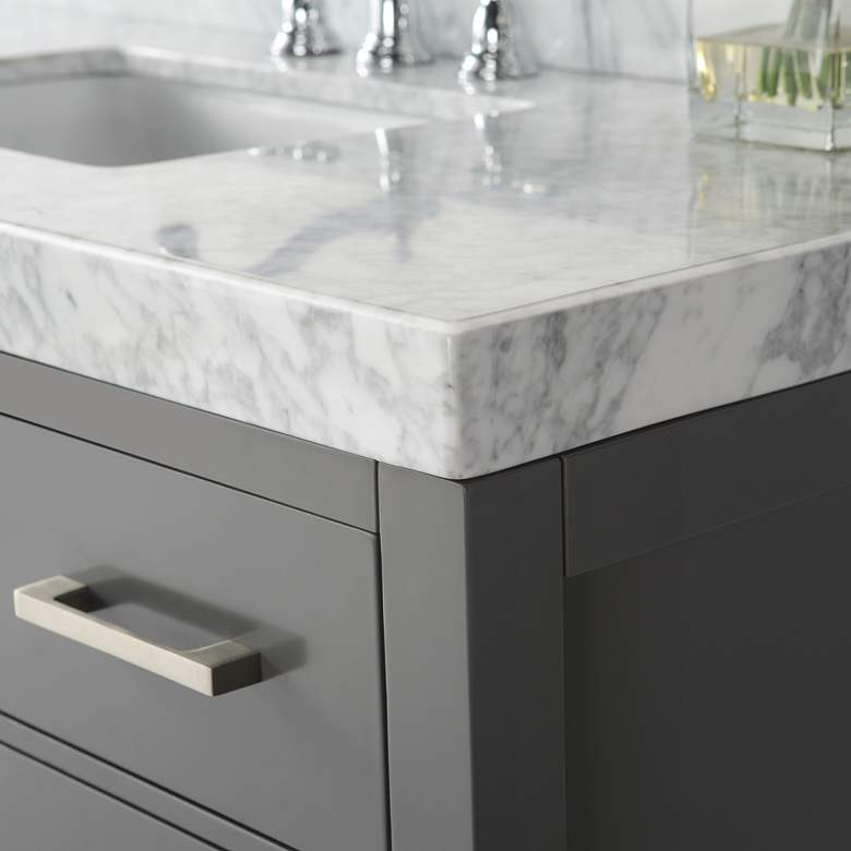 "Elizabeth 36"" Wide Single Sink Gray Marble Vanity more views"