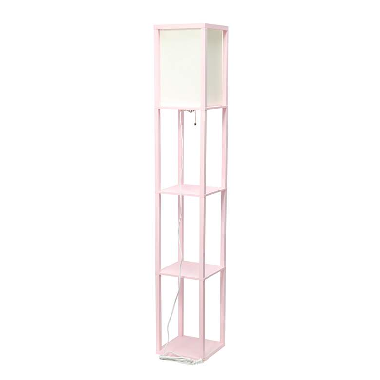 Simple Designs Pink 3-Shelf Etagere Floor Lamp more views