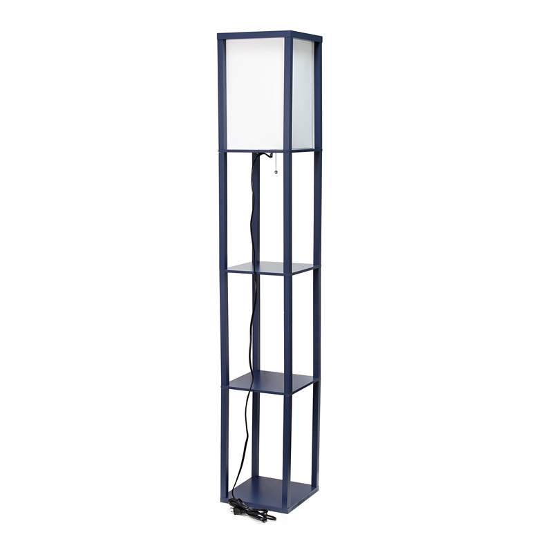 Simple Designs Navy 3-Shelf Etagere Floor Lamp more views