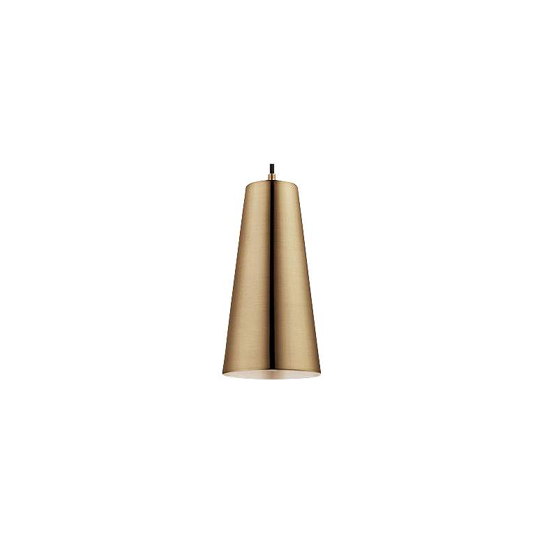 "Eglo Pratella 5"" Wide Brushed Gold Pendant Light more views"
