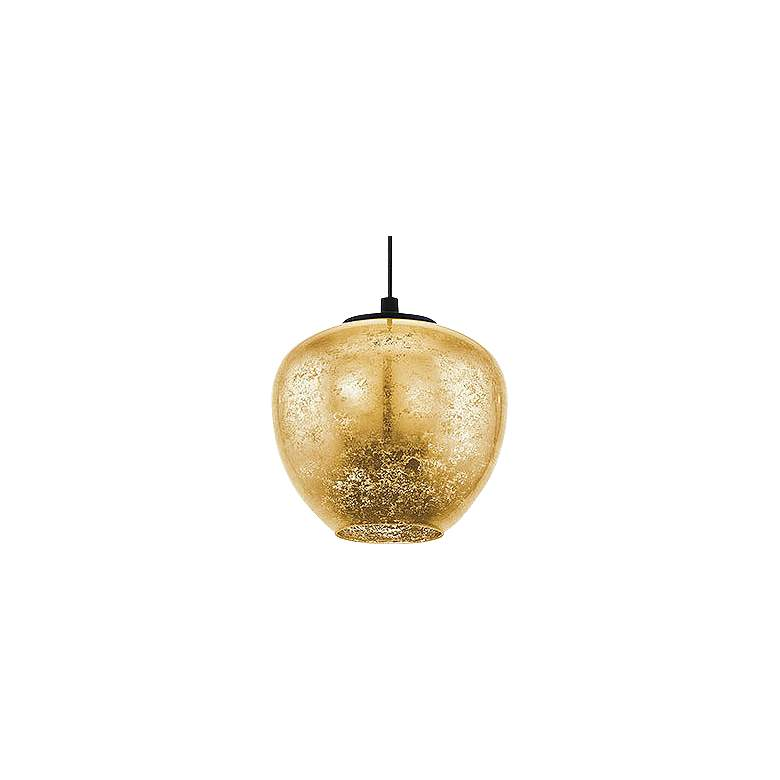 "Eglo Priorat 11 1/4"" Wide Black and Gold Pendant Light more views"