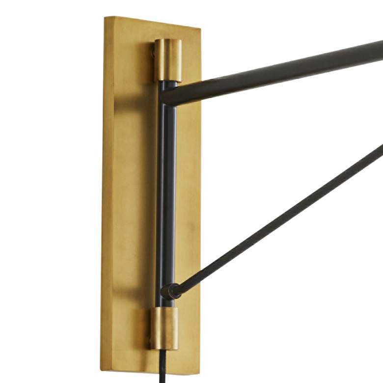 Arteriors Home Anthony Bronze Plug-In Swing Arm Wall Lamp more views