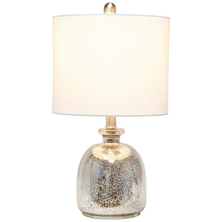 Lalia Home Mercury Hammered Glass Jar Accent Table Lamp more views