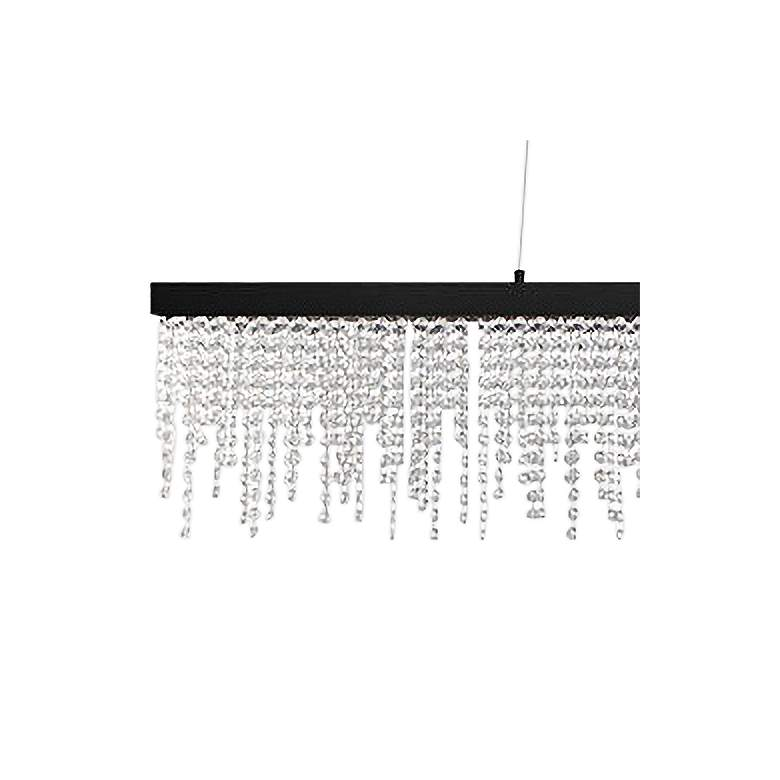"Eglo Antelao 5"" Wide Black LED Chandelier more views"