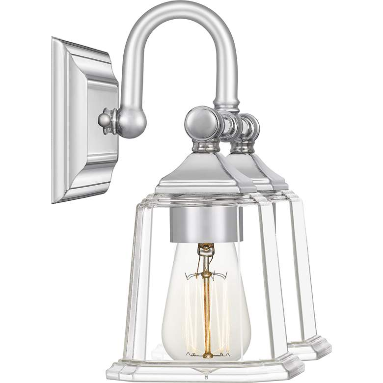 "Quoizel Nicholas 10""H Polished Chrome 2-Light Wall Sconce more views"