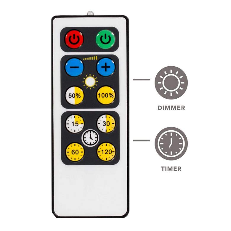 Set of 4 White LED Under Cabinet Lights with 2 Remotes more views