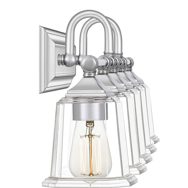 "Quoizel Nicholas 41 3/4""W Polished Chrome 5-Light Bath Light more views"